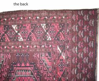 """Turkmen Tschwal, knotted circa 1890, antique. Collectors item. Size: 168 x 92 (cm) 5' 6"""" x 3' feet, carpet ID: SA-1188  Very fine knotted, part of the design is knotted with silk  ..."""