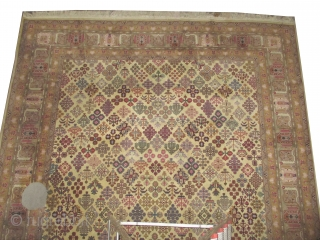 """Balcan carpet, old, 406 x 292 (cm) 13' 4"""" x 9' 7""""  carpet ID: P-5993 Very finely hand knotted, the knots are hand spun Manchester wool, Knotted to order, a single example,  ..."""