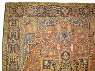 """Serapi Heriz Persian knotted circa in 1905 antique.Size: 368 x 255 (cm) 12' 1"""" x 8' 4""""  carpet ID: P-2624 In good condition, fine knotted and in its original shape."""
