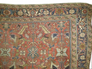 "Heriz Persian knotted circa in 1915 antique. Size: 327 x 236 (cm) 10' 9"" x 7' 9""  carpet ID: P-5107