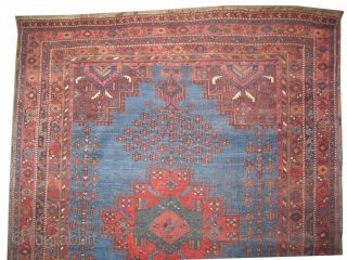 """Afshar Persian circa 1900. Antique. Collector's item, Size: 190 x 151 (cm) 6' 3"""" x 4' 11""""  carpet ID: GS-3  vegetable dyes, the black color is oxidized, the knots are hand  ..."""