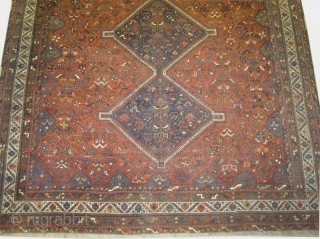 "Shiraz Persian, circa 1925, antique. Collector's item, Size: 420 x 270 (cm) 13' 9"" x 8' 10""  carpet ID: P-6259 