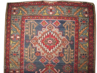"""Heriz Persian circa 1915 antique, collector's item, Size: 134 x 82 (cm) 4' 5"""" x 2' 8""""   carept ID: K-4138 the knots are hand spun wool, vegetable dyes, the black color is  ..."""