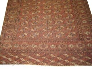 "Tekke Boukhara Turkmen circa 1910 antique, collector's item, Size: 335 x 228 (cm) 11'  x 7' 6""  carpet ID: RSZ-5 vegetable dyes, the black color is oxidized, the knots are hand  ..."