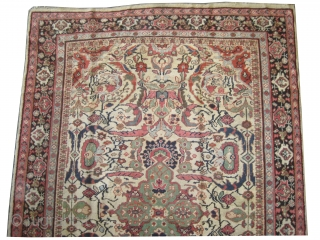 """Mahal Persian knotted circa in 1925, 320 x 212 (cm) 10' 6"""" x 6' 11""""  carpet ID: P-5151 The black knots are oxidized, the knots are hand spun wool, the background color  ..."""