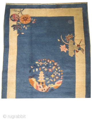 "Chinese circa 1930.  Size: 119 x 205 (cm) 3' 11"" x 6' 9"" 