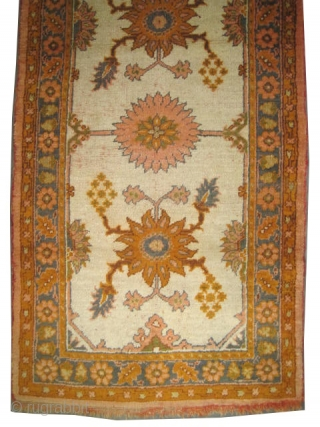 "Ushak Anatolian circa 1910 antique. Size: 207 x 108 (cm) 6' 9"" x 3' 6""  carpet ID: K-4967 