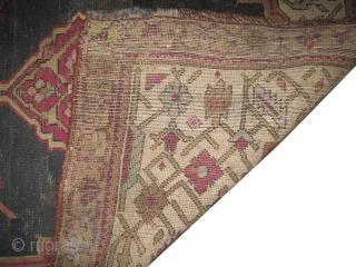 "Shusha Caucasian. Antique, collectors item,  Size: 220 x 102 (cm) 7' 3"" x 3' 4""  carpet ID: BC-1  Vegetable dyes, the black color is oxidized, the knots are hand spun wool.  ..."