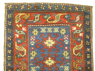 Shahsavan Persian circa 1905 antique bag face, Size: 61 x 60 (cm) 2'  x 2'   carpet ID: BV-7 