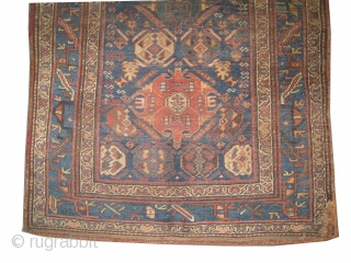 """Bidjar Halvai Persian circa 1880 antique. Collector's item, Size: 234 x 129 (cm) 7' 8"""" x 4' 3""""  carpet ID: K-4918  vegetable dyes, the brown color is oxidized, the knots are  ..."""