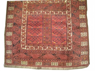 "Engsi four season, knotted circa in 1910 antique, Size: 172 x 110 (cm) 5' 8"" x 3' 7""  carpet ID: K-4401