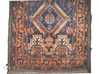 "Belutch Salar Khani balisht Persian circa 1905 antique, Size: 78 x 42 (cm) 2' 7"" x 1' 5""  carpet ID: K-5227  the black color is oxidized, the knots are hand spun  ..."