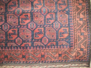 "Belutch bag face Afghanistan 1915 antique. Collector's item, Size: 69 x 34 (cm) 2' 3"" x 1' 1""  carept ID: MMM-10