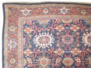 "Ziegler-Mahal Persian circa 1905 antique.  Size: 370 x 260 (cm) 12' 2"" x 8' 6""  carpet ID: P-3836 