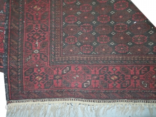 Belutch Persian,  105 x 183 cm, carpet ID: LUB-14 The black knots are oxidized, allover design, thick pile, very finely knotted, certain places the pile is used. The knots, the warp and  ...