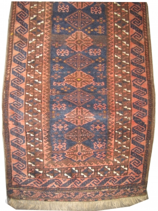 "Belutch balisht Persian circa 1905 antique. Collector's item, Size: 95 x 51 (cm) 3' 1"" x 1' 8""  carpet ID: K-2002