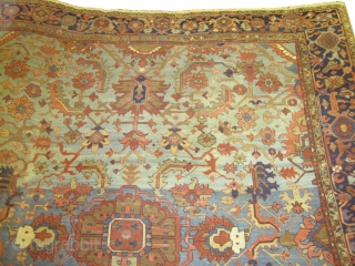 "Bakshaish-Heriz Persian circa 1885 antique. Size: 330 x 298 (cm) 10' 10"" x 9' 9""  carpet ID: P=5656