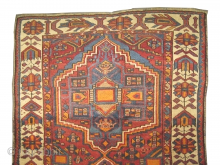 """Gabbeh Louri Persian, dated 1333 = 1914 and signed. Collector's item,  Size: 220 x 147 (cm) 7' 3"""" x 4' 10""""  carpet ID: K-5590 The black color is oxidized, the knots are  ..."""