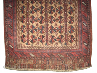 "Belutch prayer Persian circa 1890 antique. Collector's item. Size: 142 x 94 (cm) 4' 8"" x 3' 1""  carpet ID: K-4686 