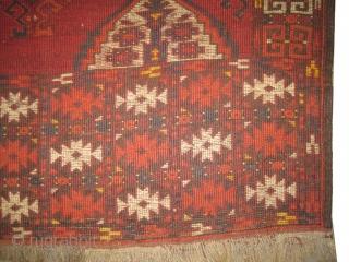 """Turkmen four season, circa 1865 antique, with Tschaudor design, collectors item. Size: 182 x 129 (cm) 6'  x 4' 3""""  carpet ID: K-4418 vegetable dyes, the knots are hand spun wool,  ..."""