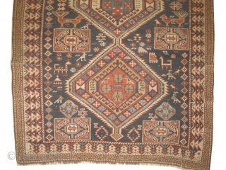 "Shirvan Caucasian circa 1890 Antique, collector's item, Size: 178 x 125 (cm) 5' 10"" x 4' 1""  carpet ID: RSZ-10