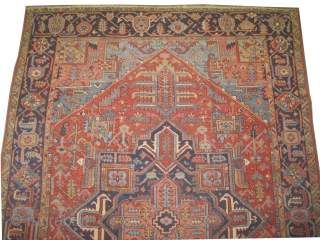 "Serapi Heriz Persian circa 1910 antique. Size: 232 x 316 (cm) 7' 7"" x 10' 4""  carpet ID: P-6096