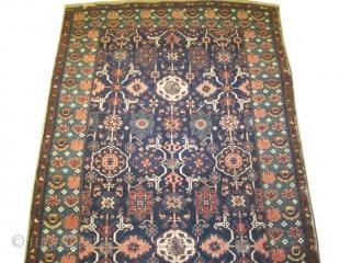 "Kouba Caucasian knotted circa in 1885 antique. Collector's item,  542 x 196 (cm) 17' 9"" x 6' 5""  carpet ID: P-5879 The center design is typical Kouba Karagashli, the black color  ..."