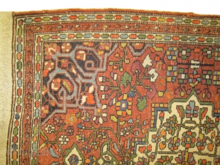 Farahan Sarouk Persian circa 1900 antique, collectors item, Sizes: 55 x 62cm and 56 x 62cm.Carpet ID: BDU-9 Vegetable dyes, the black color is oxidized, the knots are hand spun wool, very fine  ...