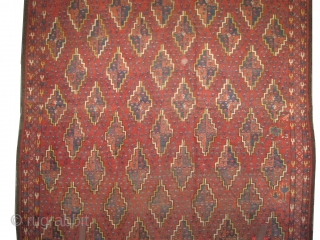 """Beshir Turkmen antique, Collector's item. Size: 400 x 178 (cm) 13' 1"""" x 5' 10""""  carpet ID: P-6130 Vegetable dyes, the brown color is oxidized, the knots are hand spun wool,  ..."""