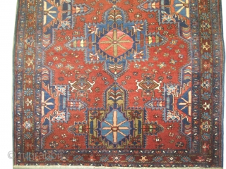 "Karadja Persian knotted circa in 1915 antique. 144 x 115 (cm) 4' 9"" x 3' 9""  carpet ID: K-5273