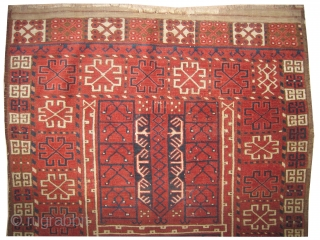 "Ersari Engsi Turkmen, knotted circa in 1860 antique, collector's item. 170 x 128 (cm) 5' 7"" x 4' 2""  carpet ID: K-3129