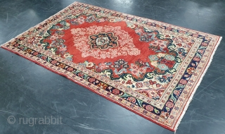 Rug# 32, Antique Mahal, Moshkabad village, Sarouk area, Vegetable dyes, circa 1900, collectible, Persia, size 206x123 cm, cheap freight can be arranged to anywhere in the world. Freight within Australia is free.  ...