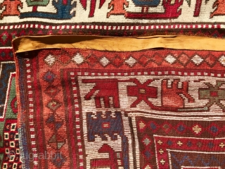 Origin and description: Yürück family prayer rug. East Anatolia, Turkey. Hand knotted. Wool on wool.  Dimension: 326 cm x 139 cm.  Age: end 19th century.  Condition: overall good condition, some professional repairs and repilling.