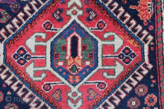"""Luri Main rug. 4'11"""" x 9'7"""". Early 20th century. All natural dyes. Amazing condition."""