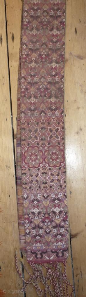 Fabulous Fez belt, early 19th century, 240cm, 7.9ft long, excluding tassels