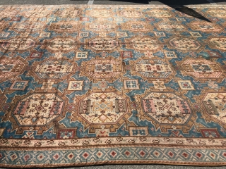 Antique rug 12x24 good condition full pile