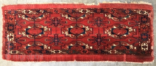 Tekke torba, rare 3-gül type, early/mid 19th c., 114 x 44 cm, PUBLISHED: Rageth, Turkmen Carpets, pl. 57