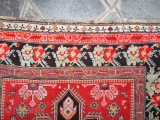 387 x 125 cm  Antique Karabagh Caucasus runner.