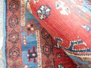 A pair of Ardabil persian Azeri carpets. In good condition. Full pile only damages upon the ends.  These 2 rugs at present, have not been washed. 130 x 83 +  127 x 82 cm   ...