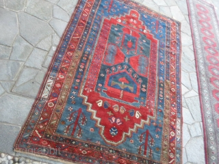 258x160 cm Antique KAZAKH >(Maybe a Borchalu).Very, very good condition. Washed and ready for domestic use. Wool on wool and natural dyes. More info or pictures on request. TY for your attention. All the best  ...