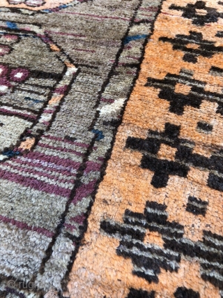 141 x 100 cm Original Belouch with big Ersari Gols.