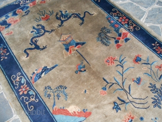 233 x 159 cm = ft. 7,64 x 5,21. Oriental carpet knotted in CHINA Gansu district. Very good condition. Beautiful pattern Other info or photos about this Gansu on request.  Good look and all the best  ...