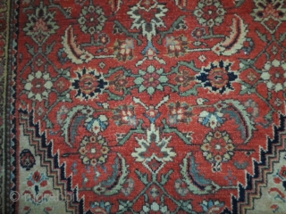 Serabend with very fine knot, size 200x130 cm. Carpet in very good