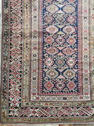 District of KUBA, Darachichi village CAUCASUS. Tchi-Tchi in very good condition for pile and foundation. Size is  cm. 177 x 107 cm Wonderfull color and fine knot for this antique original CHICHI, a piece for  ...
