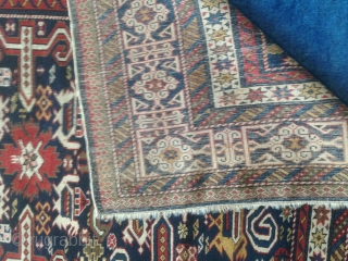 Shirwan antique Perpedil in very good condition. All original piece with fastened and natural dyes. Very designed main cufic border. Size  cm.170 x 130 cm. =  ft. 5.58 x 4.26 ft. More info and  ...