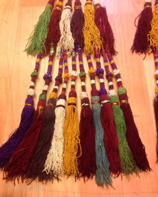 Uzbek asian ethnic tribal tassel Old accessories and silk colored tassel  Very good quality  Size:  height :70 cm  FAST WORLDWIDE SHIPPING by FEDEX almost within 3 to 5 working days ... can be tracked at www.fedex.com  Could  ...
