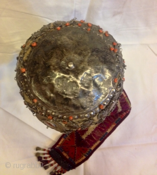 Antique silver Kyrgyz hat 
