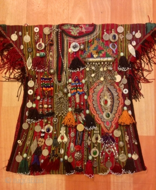 Vintage turkmen baby kids dress clothes costume Ethnic and tribal unuqie   Size:  Height : 45 cm Lenght : 35 cm  Fast shipping all over the world,,!!!  Thanks visiting for my shop :)
