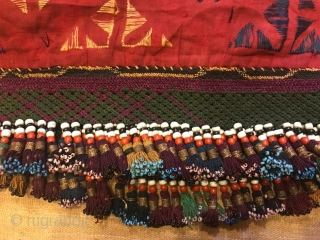 Uzbek ethnic tribal tassel Old accessories tassel  Size: 130 cm X 14 cm Tassel height: 3 cm  FAST WORLDWIDE SHIPPING almost within 3 to 5 working days ...  Could you please leave your tel number after transaction  ...
