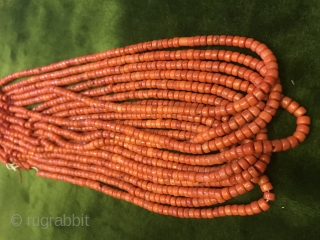 Antique uzbek handmade corals 